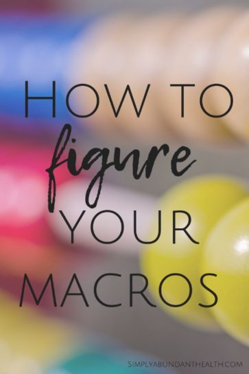 How to Figure Your Macros