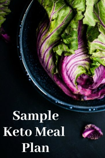 Sample Keto Meal Plan